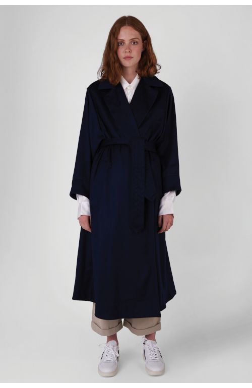 Manola Navy Wool Coat