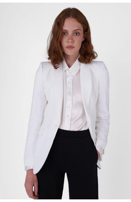 Sofia white organic cotton blazer
