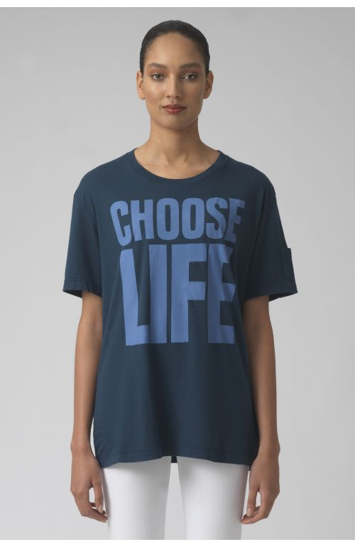 Choose life TEAL Organic cotton t-shirt