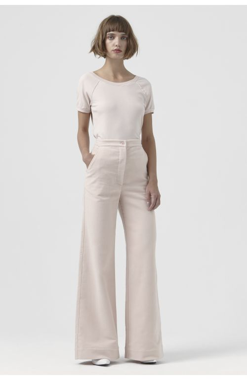 Anna Pink Organic Cotton Trousers