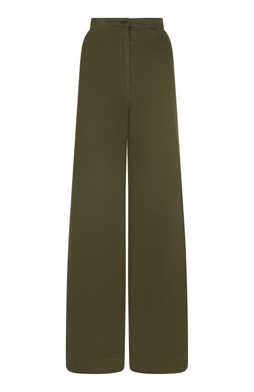 Anna Khaki Organic Cotton Trouser