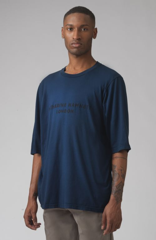 George Blue oversized organic cotton t-shirt