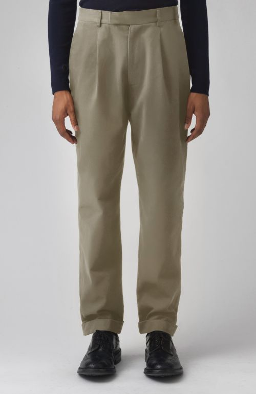 Rupert Khaki Organic Cotton Trousers