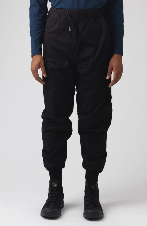 Adamo Black organic cotton trousers