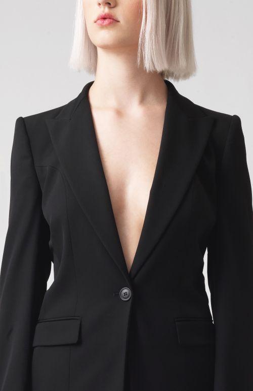 Sofia black Organic Wool Blazer