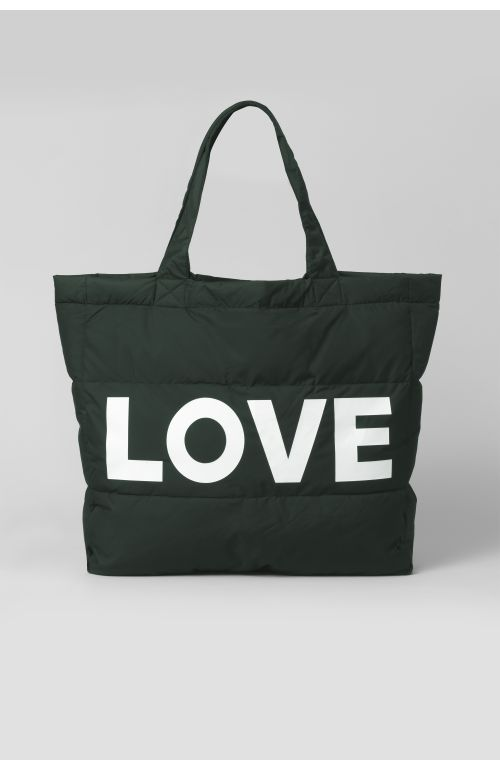 LOVE GREEN PUFFER BAG