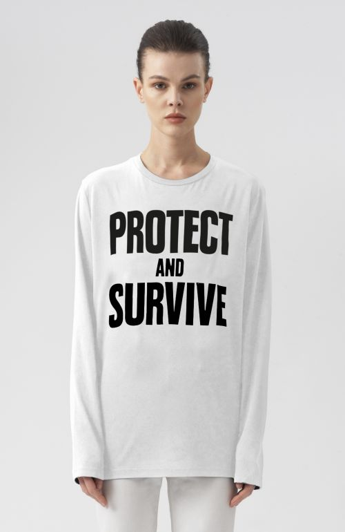PROTECT AND SURVIVE LONG SLEEVE T-SHIRT