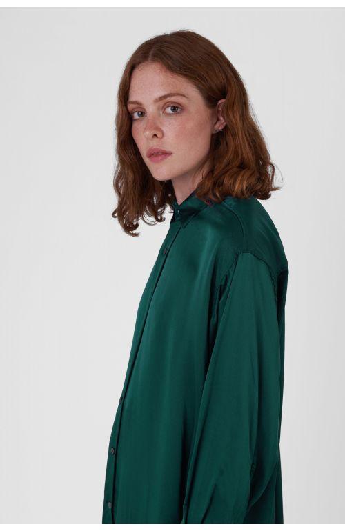 Nicola Green Silk Satin Shirt