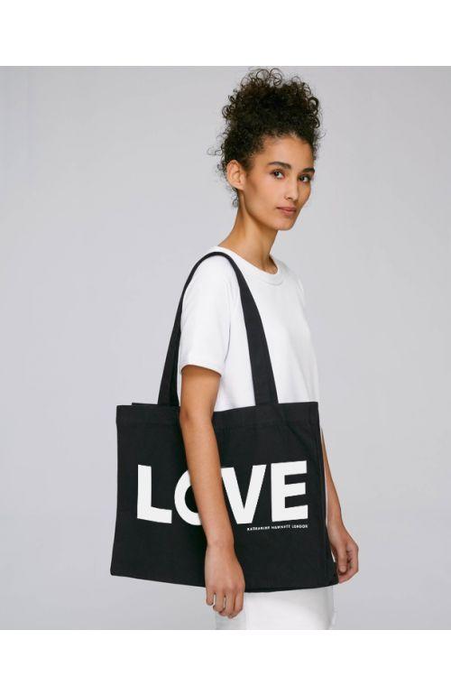 LOVE ORGANIC COTTON TOTE BAG