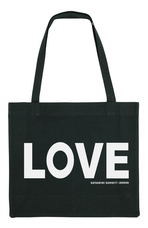 LOVE ORGANIC COTTON TOTE BAG