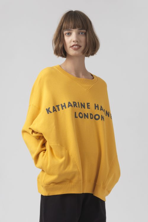 Vince Yellow Organic Cotton Sweatshirt