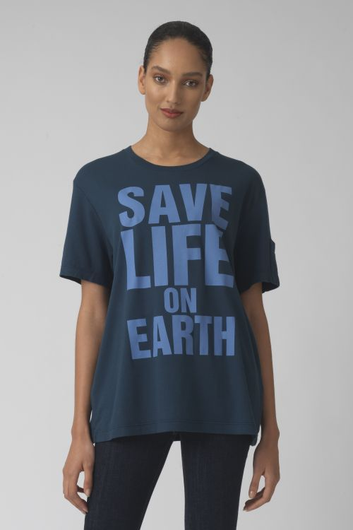 Save life on earth TEAL Organic cotton t-shirt