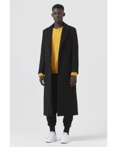 b1f5ae847dd51 Darwall by Katharine Hamnett - Black Regenerated Wool Coat - Men