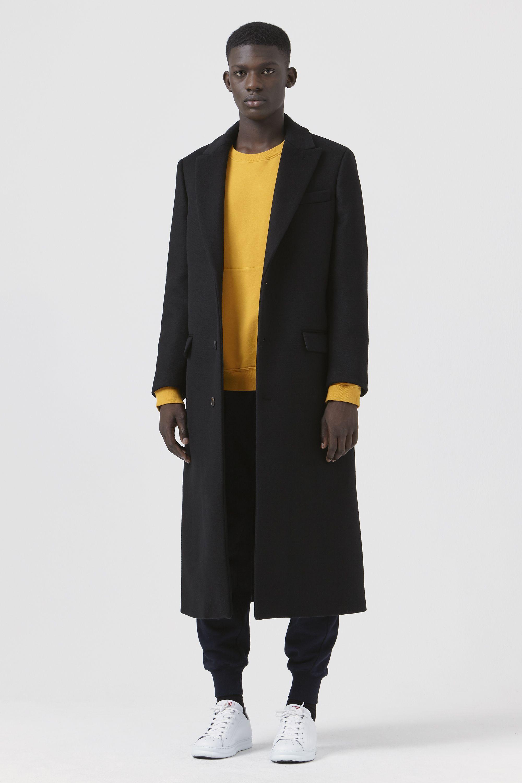 f746b24b5f3086 Darwall by Katharine Hamnett - Black Regenerated Wool Coat - Men