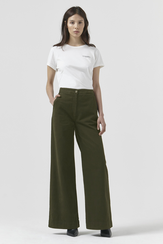 Anna Khaki Organic Cotton Trouser