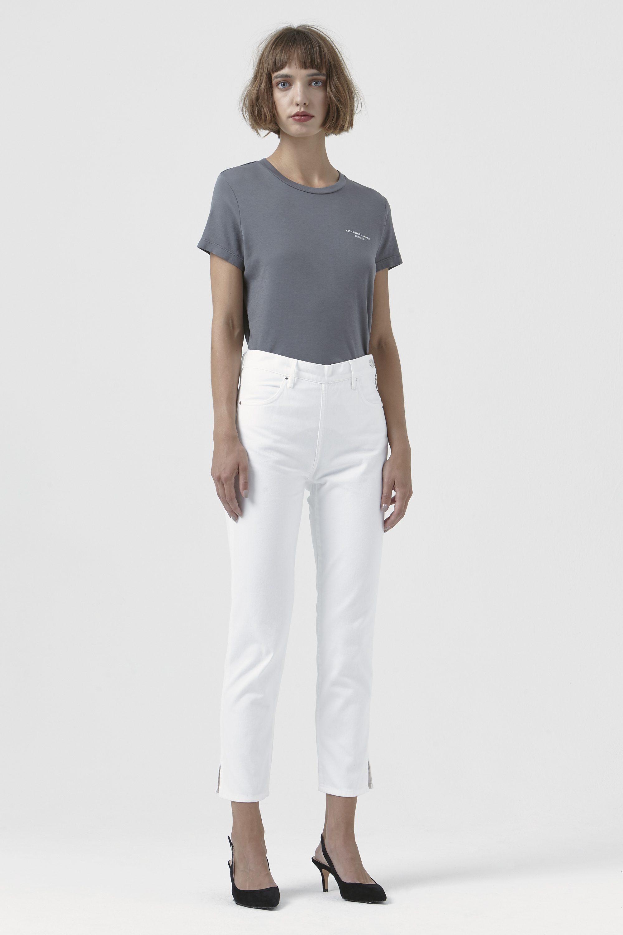 Rodeo White Organic Cotton Trousers