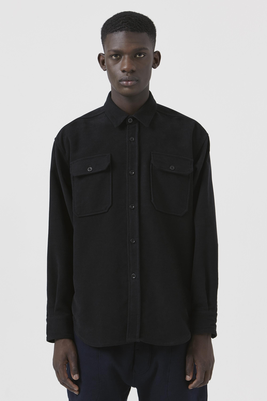 Dante Black Organic Cotton Shirt