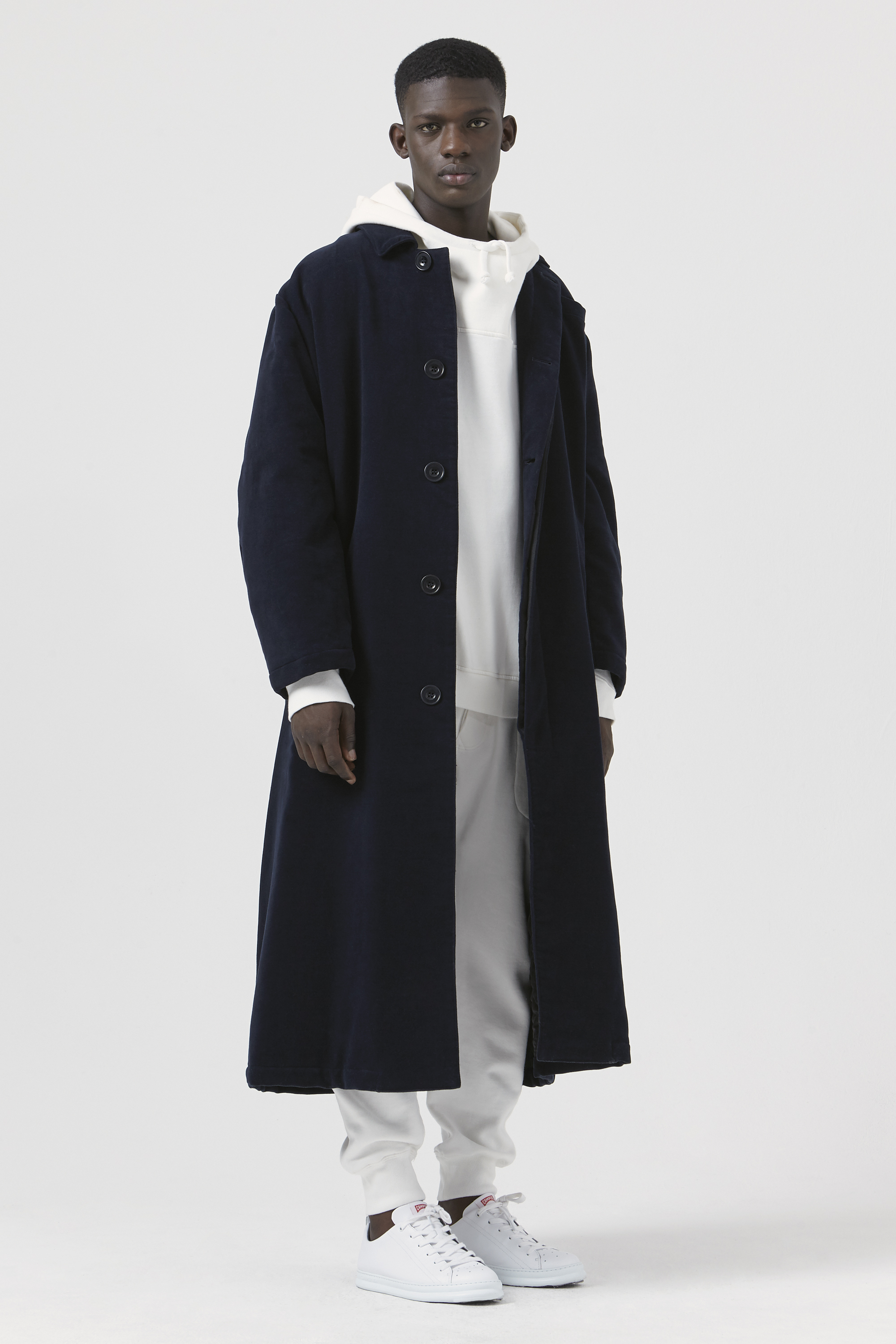 Sam Navy Organic Cotton Oversized Coat