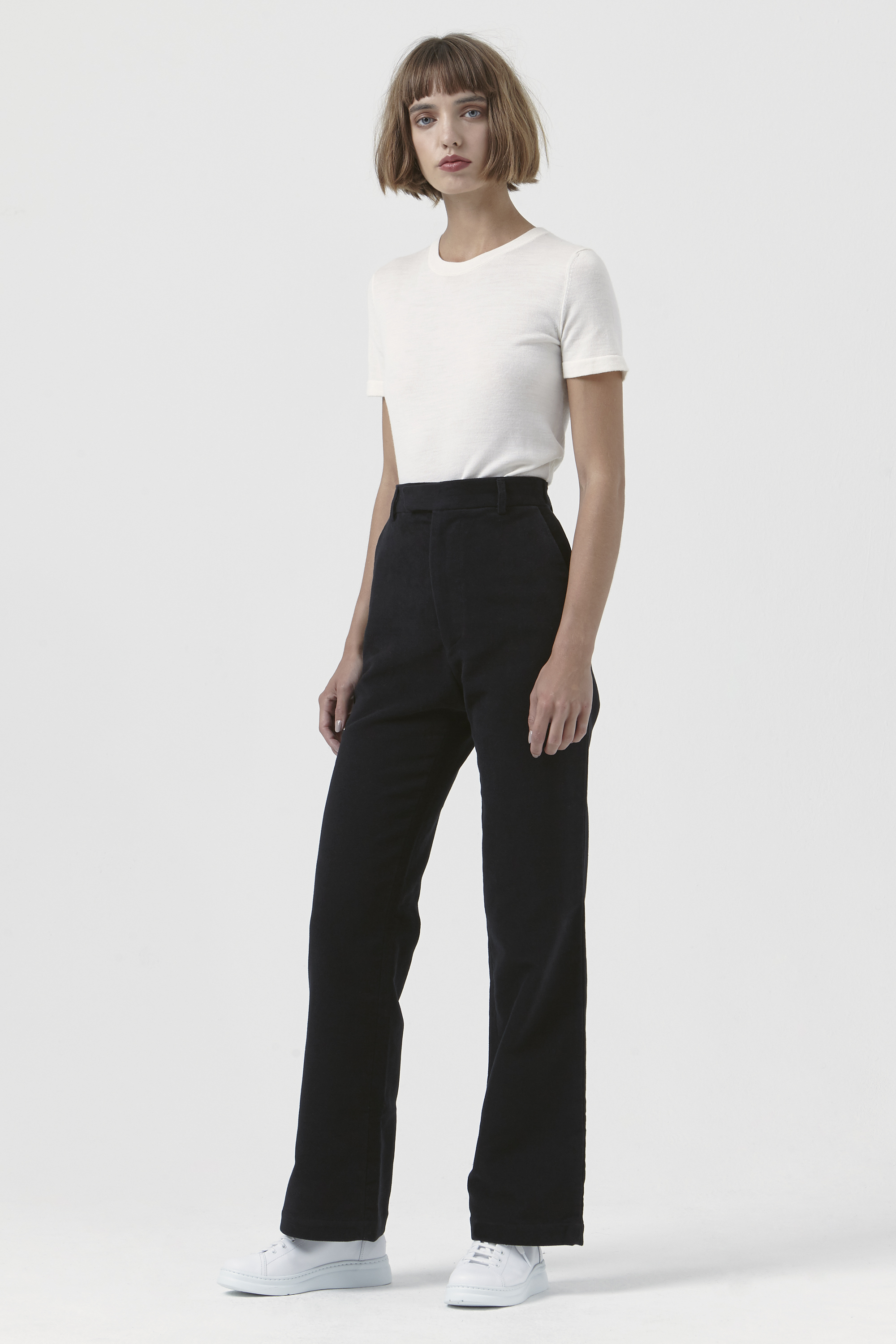 Adriana Black Organic Cotton Trousers
