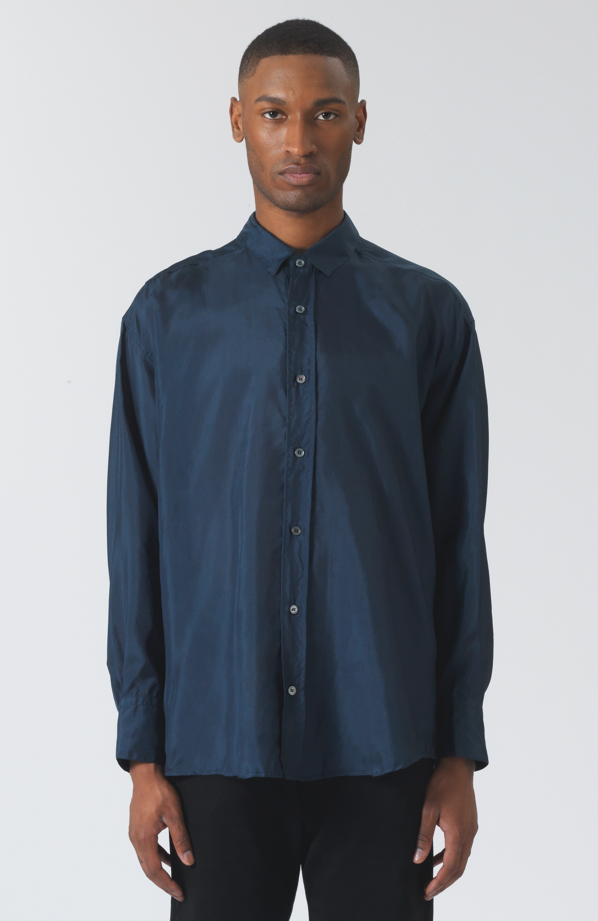 Nicola green silk shirt