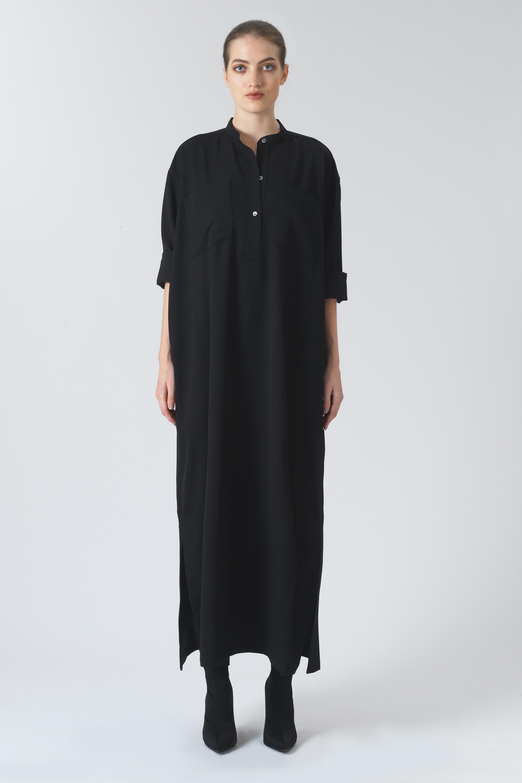 Kate Black Organic Wool Dress