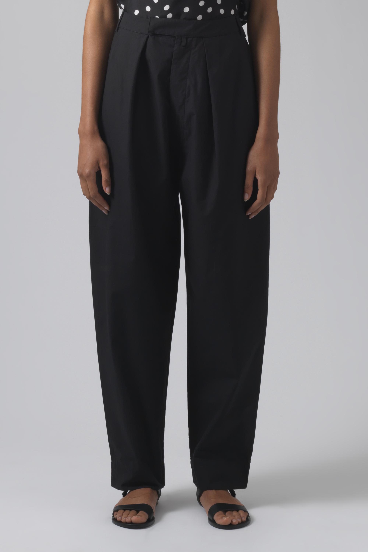 Bonnie black organic cotton trousers