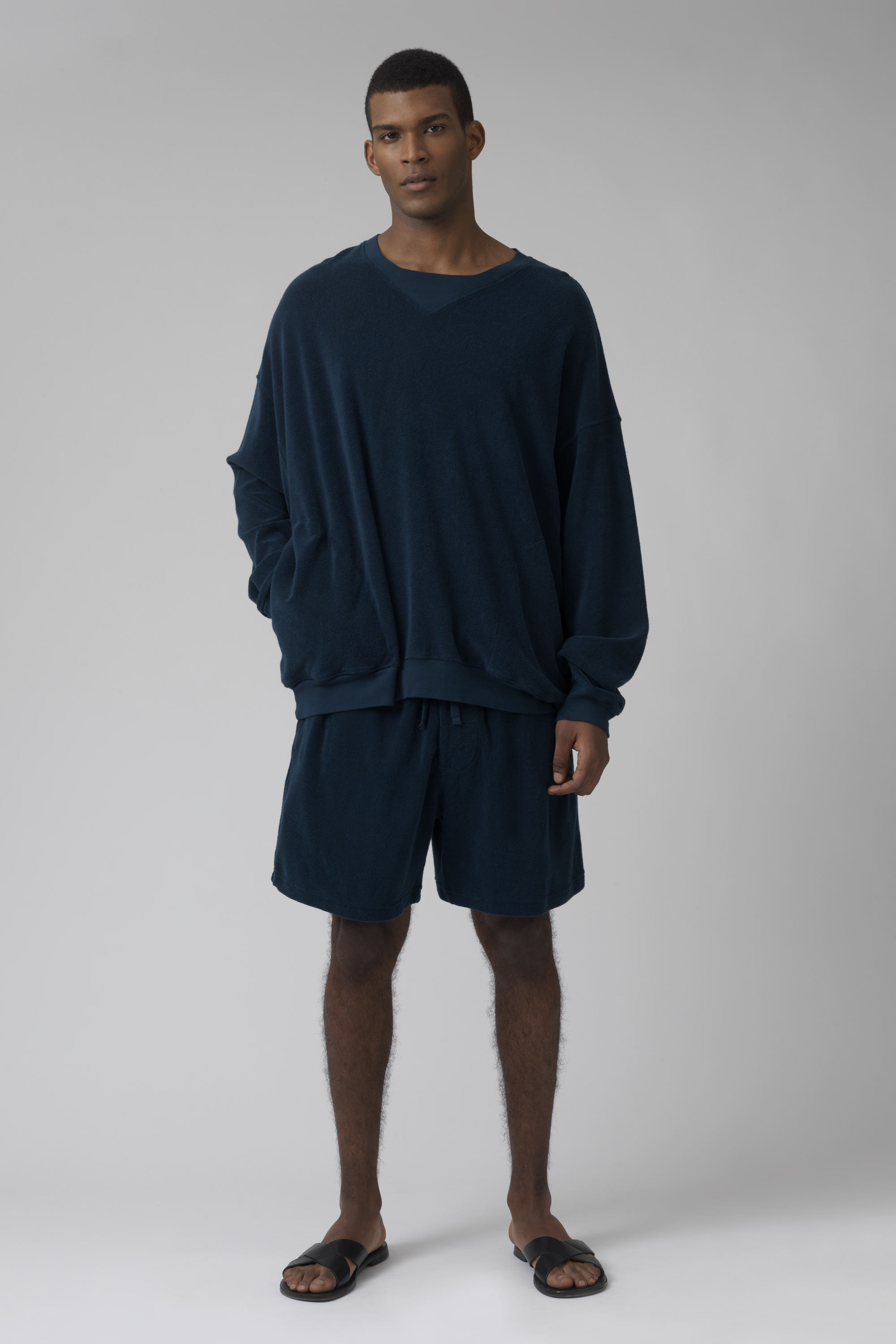 Lucien teal French Terry shorts