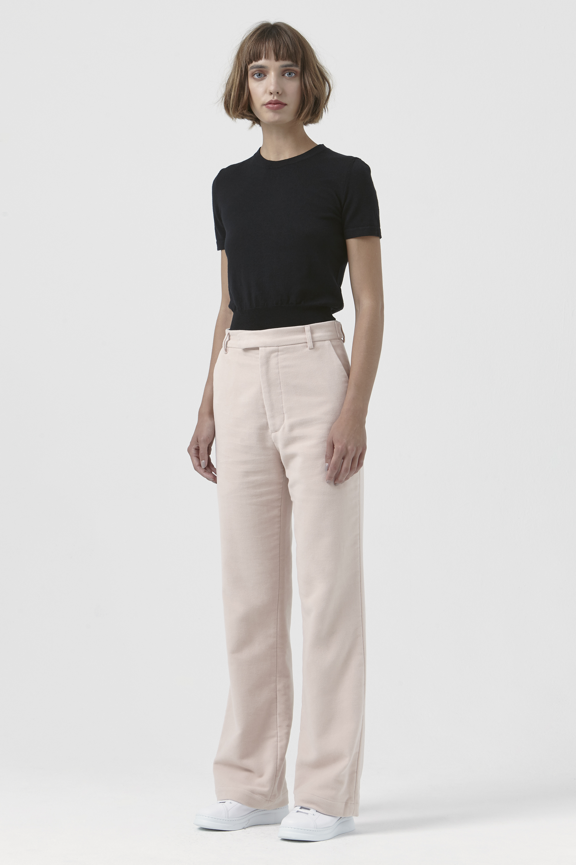 Adriana Pink Organic Cotton Trousers