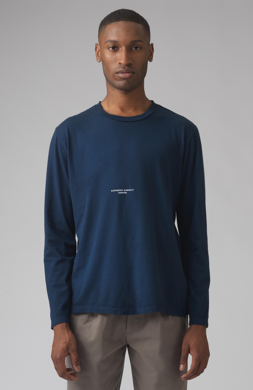 Robbie Blue Organic Cotton Logo T-shirt