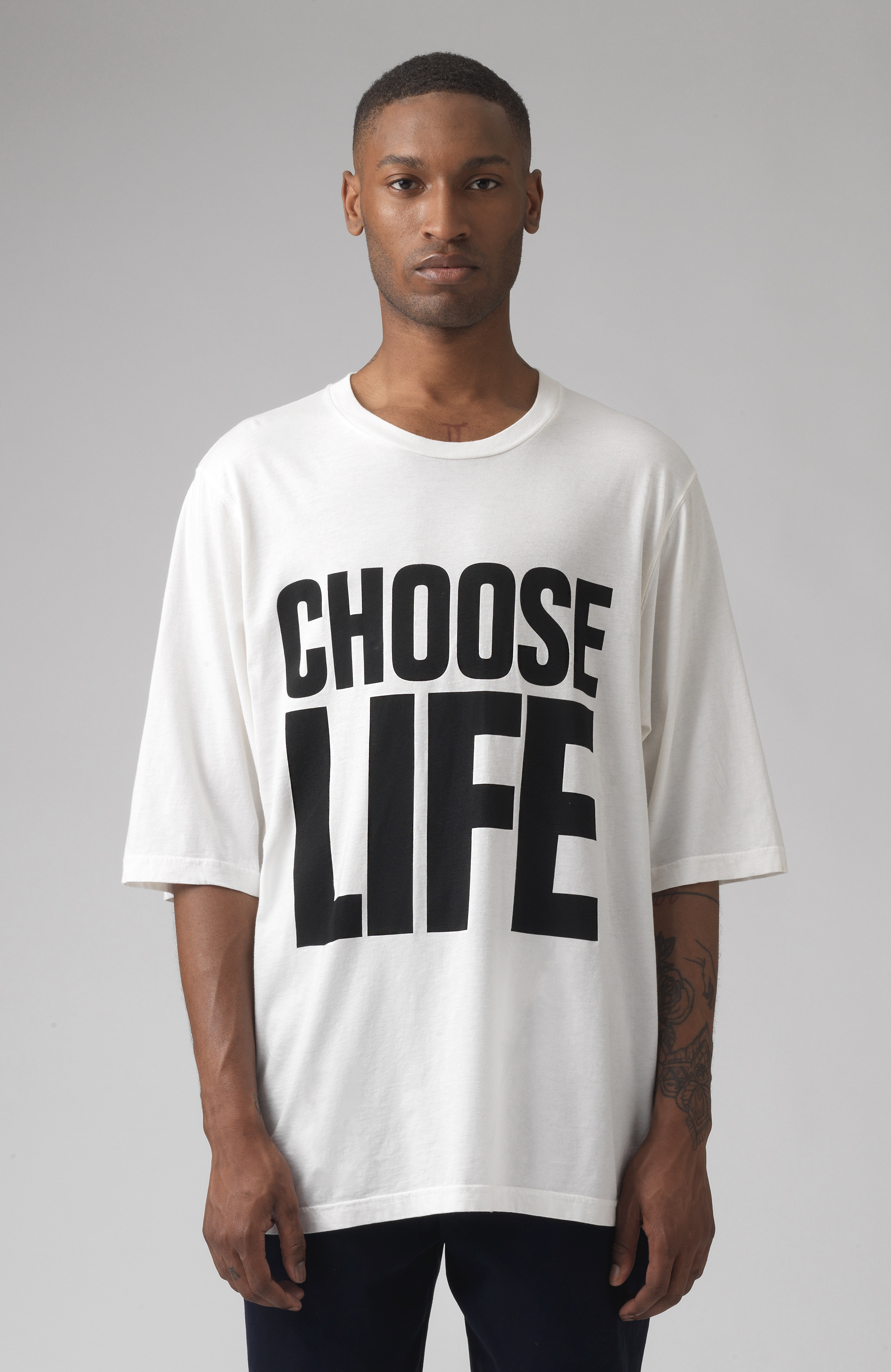 Choose Life White Oversized T-Shirt