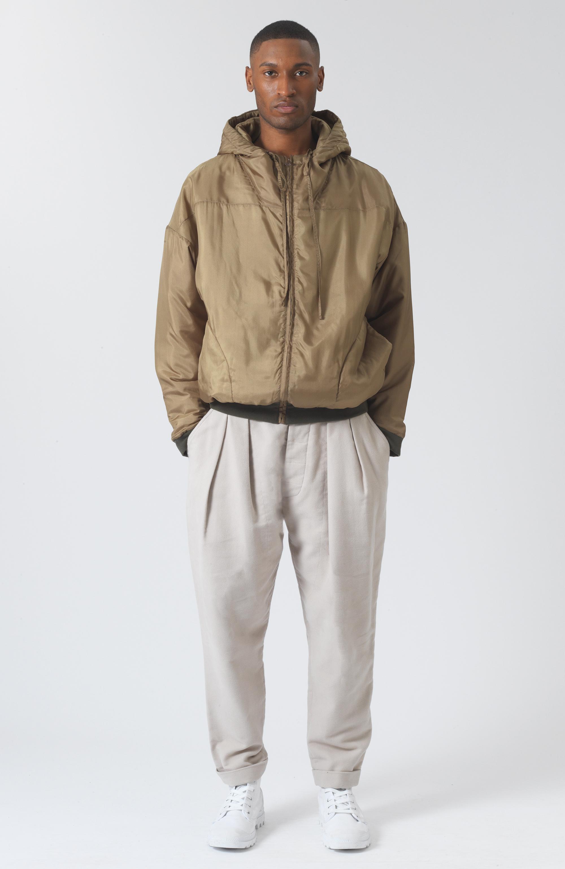 Sean Khaki Silk Jacket