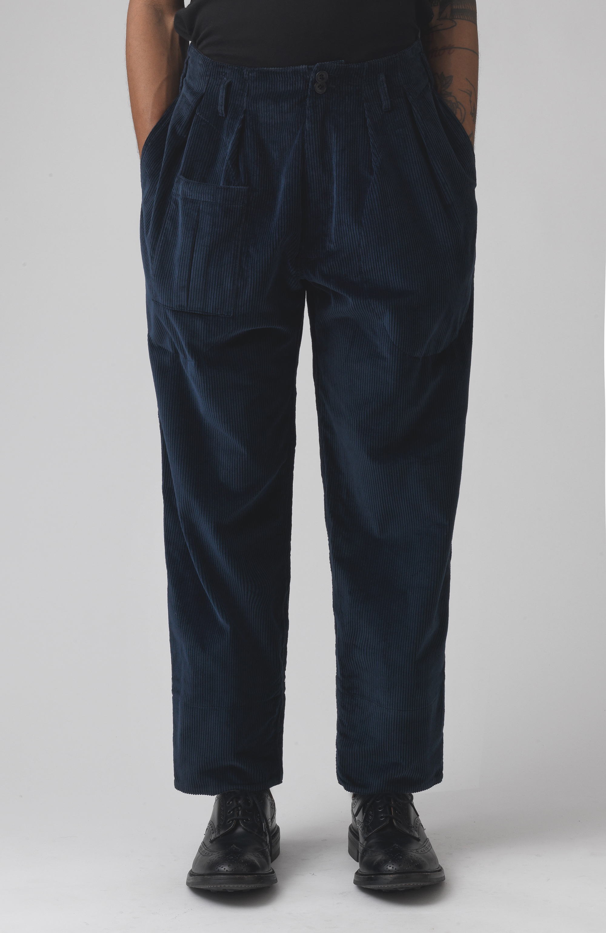 Xam Navy Organic cotton trousers