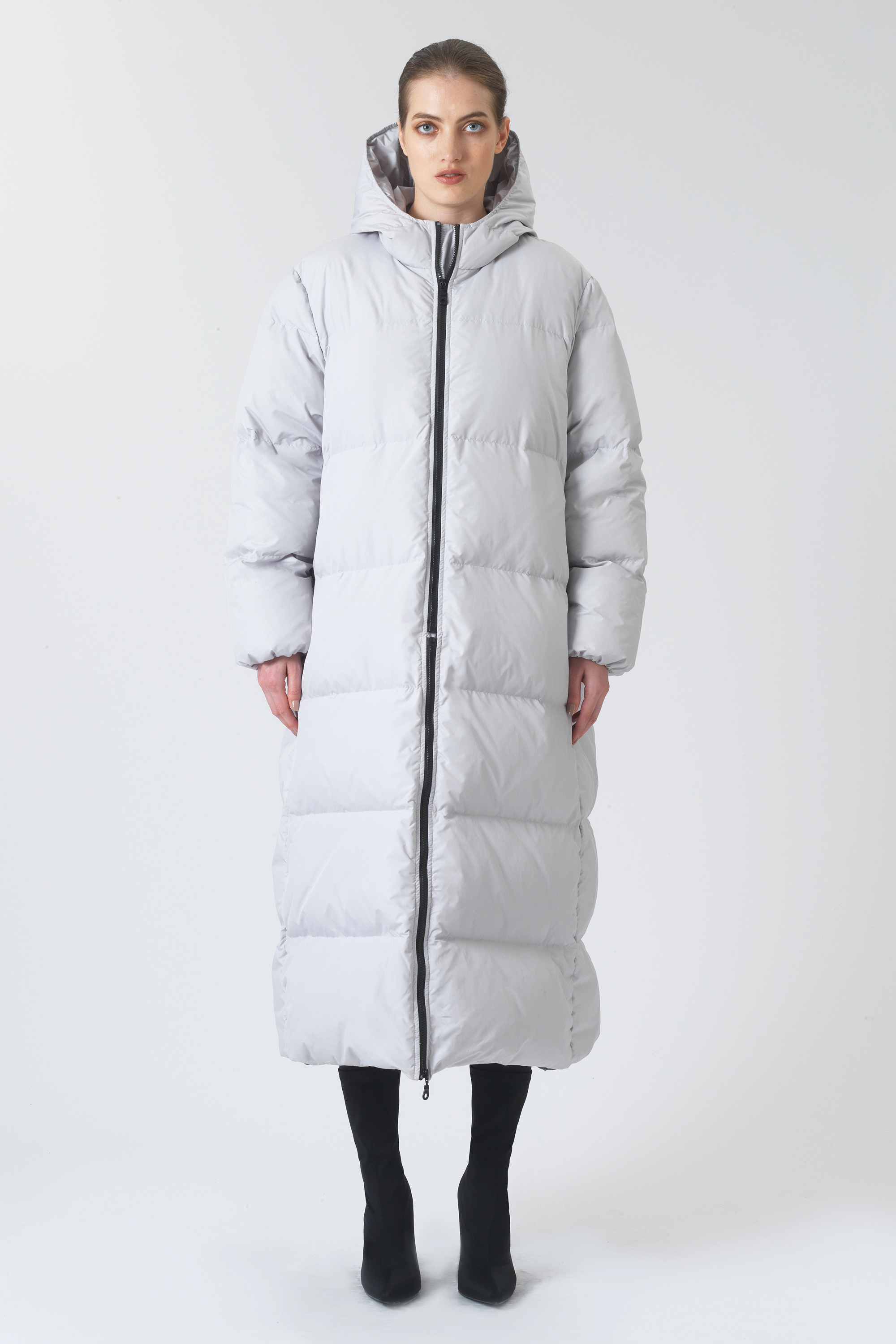 Claude Grey Recycled Polyester Puffer Jacket